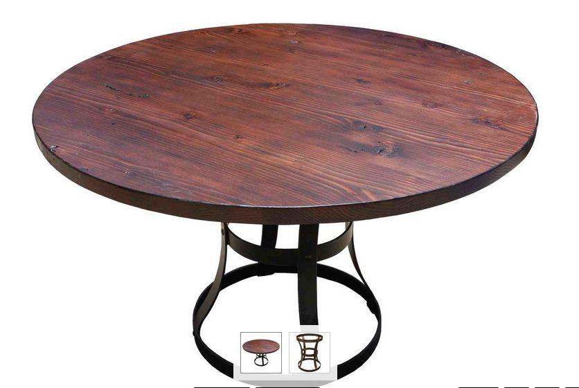 699dfe6e4db6 Stolík v kombinácii kov + drevo